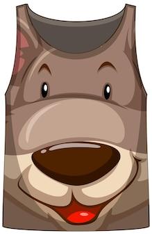 カンガルー柄の顔のタンクトップ