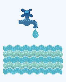 Кран и вода
