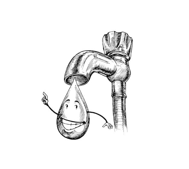탭 드롭, 물 절약 생명을 구하십시오.