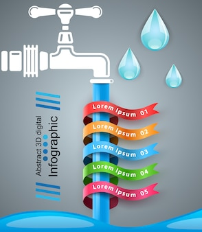 Tap infographic design template and marketing icons.