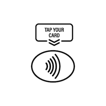 Tap your card icon. nfc. terminal confirms contactless payment by credit card. vector on isolated white background. eps 10.