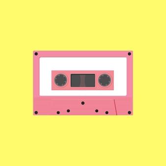 Tape cassette flat design.