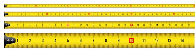Tape measure, tool, ruler, meter, roulette.