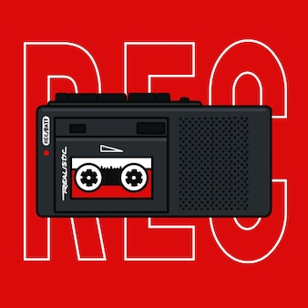 Tape recorder vector illustration