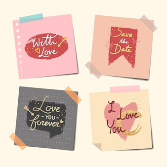 Taped notes of sweet messages