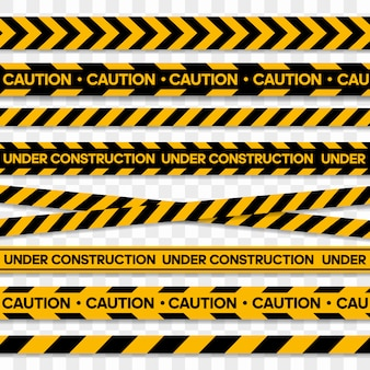 Tapes for restriction and dangerous zones