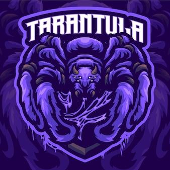 タランチュラのマスコットのロゴのテンプレート