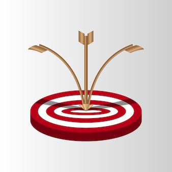 Target arrows missed shot miss, inaccurate attempts to hit archery target