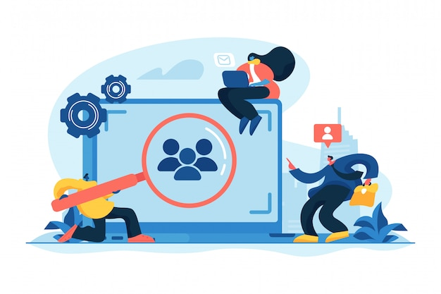 Target audience concept vector illustration