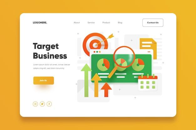 Target business landing page template