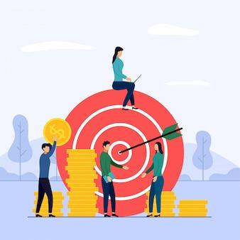 Target business teamwork