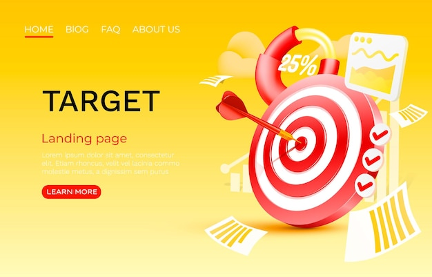 Target chart landing page template