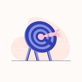 Target dart flat illustration with pastel colors
