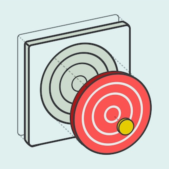 Target dartboard digital creative graphic