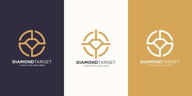 ターゲットダイヤモンドのロゴデザインテンプレート