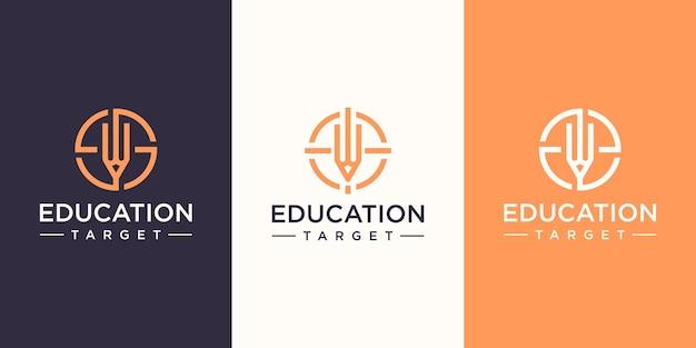 Шаблон дизайна логотипа целевого образования