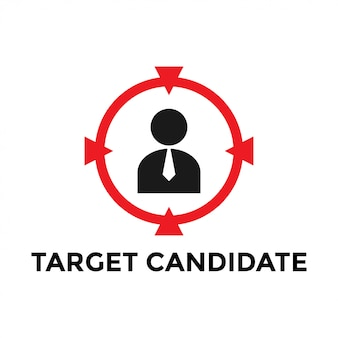Target employee icon design template vector isolated