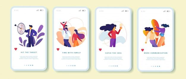 Target, family, catch idea, communication set
