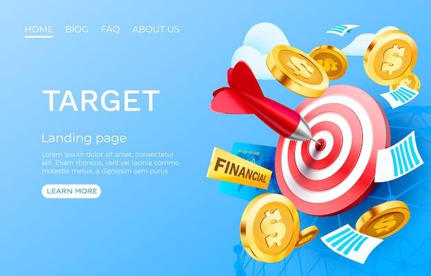 Target finance landing page template