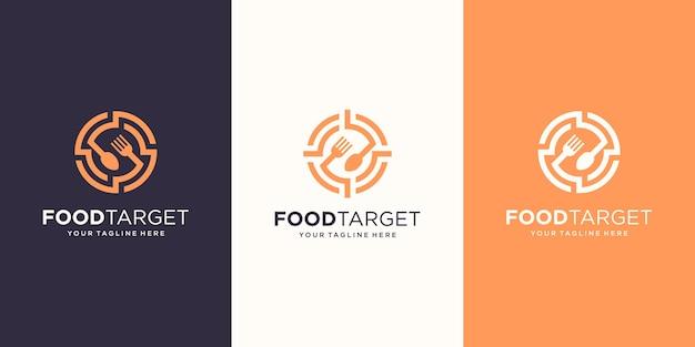 ターゲット食品のロゴデザインテンプレート