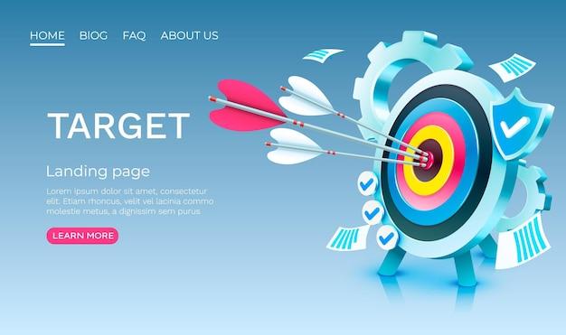 Target gear landing page template