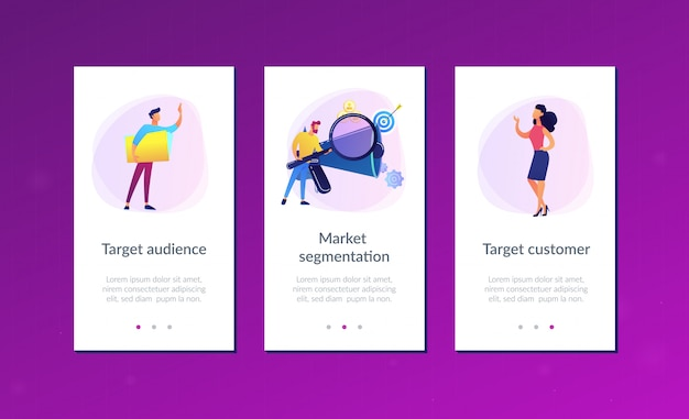 Target group app interface template
