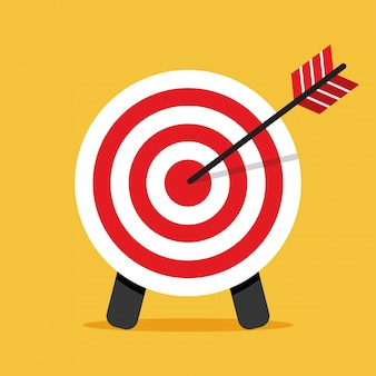 Target icon. arrow hitting a target. business concept.
