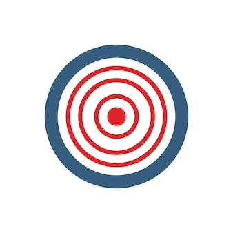 Target icon. darts target symbol. aim button. flat vector concept illustration isolated on white background