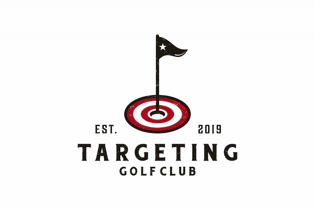 Target icon with golf logo design