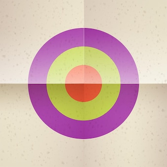 The target is on a folded piece of paper. old yellowed paper. paper bends.