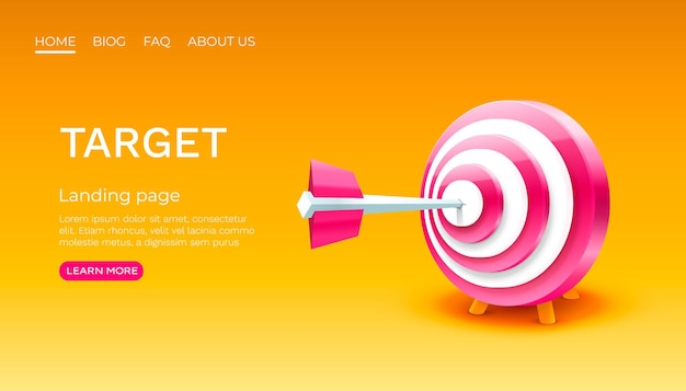 Target landing page banner