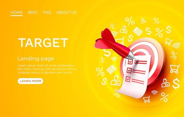 Target landing page template