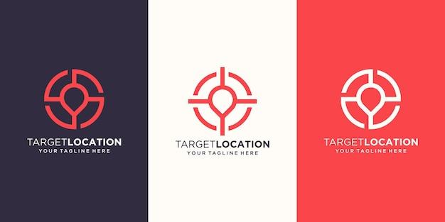 ターゲットの場所のロゴデザインテンプレート。