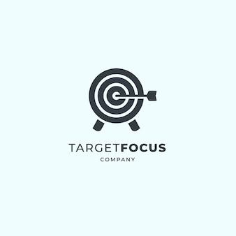 Target logo design. dartboard and dart   design.