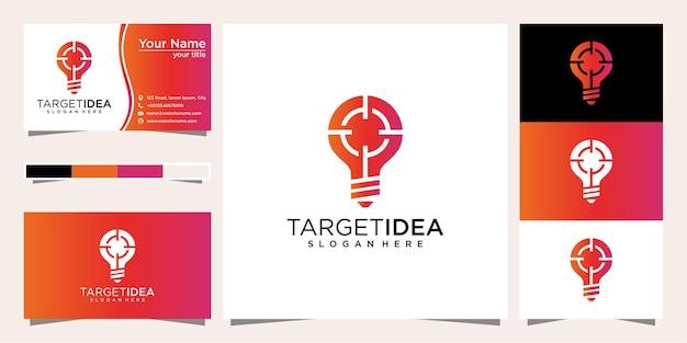 ターゲットロゴデザインのアイデアと名刺