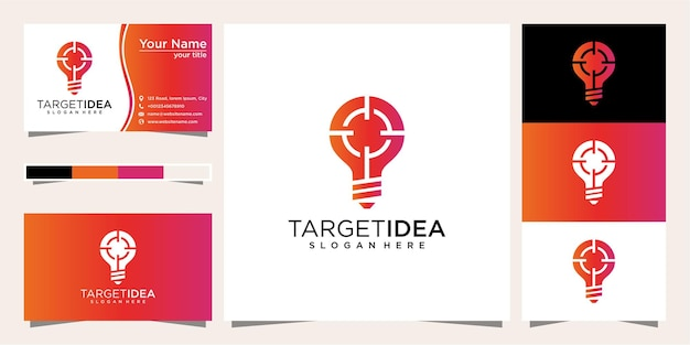 Target logo design ideas and business cards