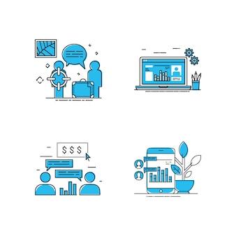 Target man business illustration