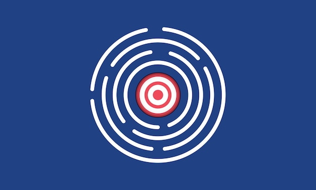 Target in maze manage to goal strategy concept inspiration business