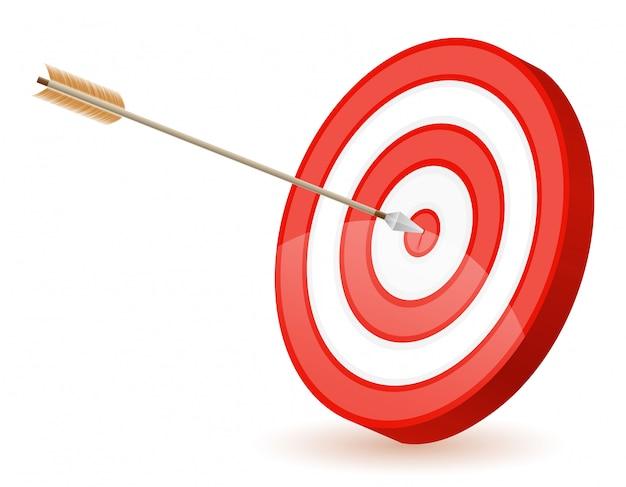 Target for shooting arrow bow Premium Vector
