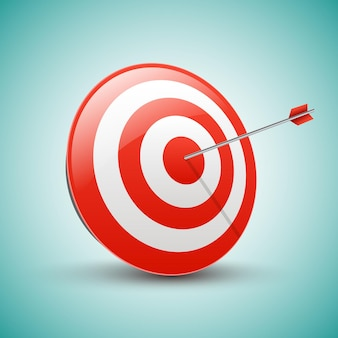 Target with arrow. business success concept.