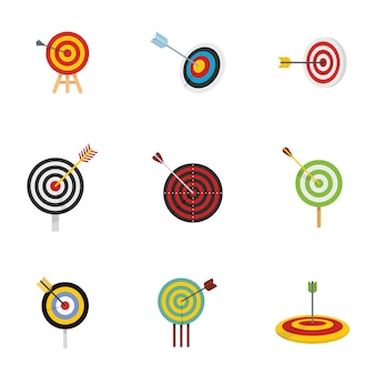 Target with arrow icons set