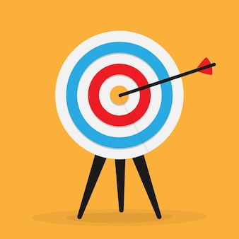Target with arrow over yellow