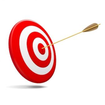 Target with arrow Premium Vector
