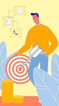 Targeted advertising flat vector illustration