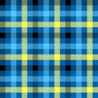 Tartan blue color seamless vector pattern