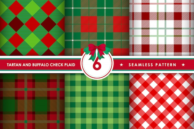 Tartan check plaid seamless patterns