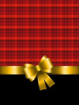 Tartan christmas background