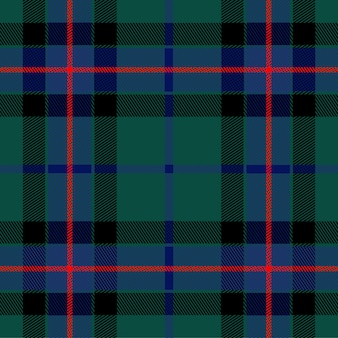 Tartan green blue textile pattern