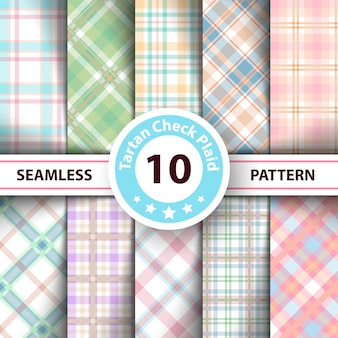 Tartan, merry christmas check plaid seamless patterns