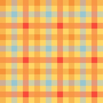Tartan orange color seamless vector pattern
